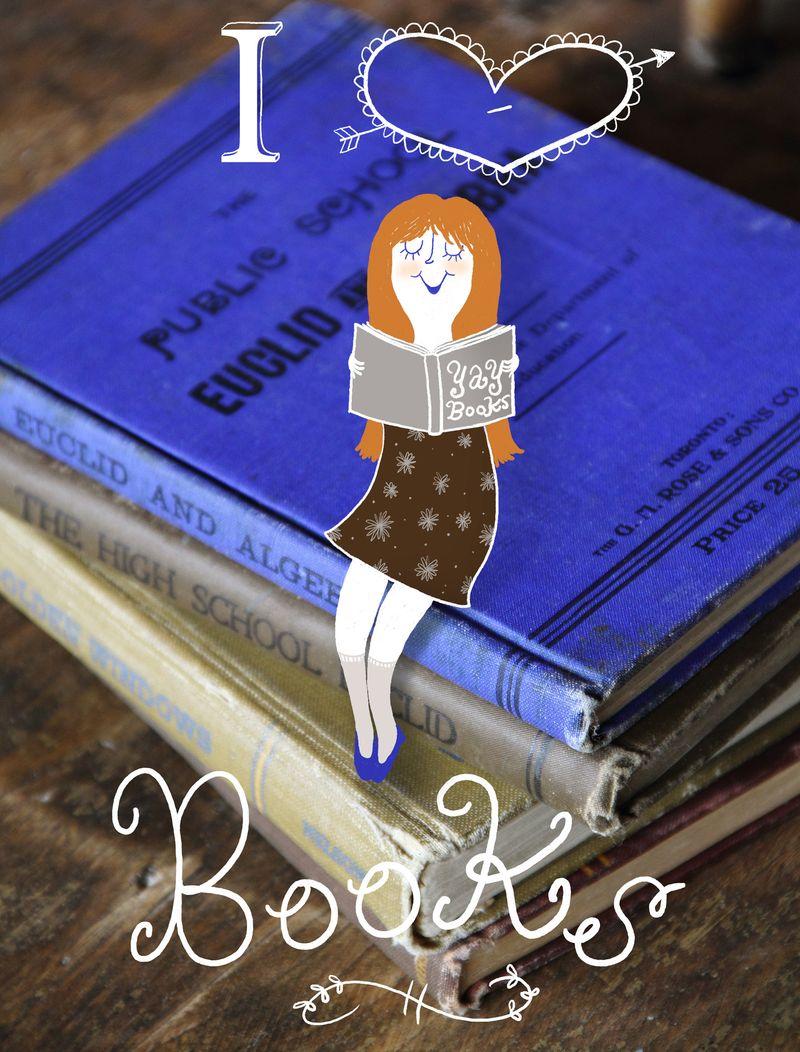 Girl on books