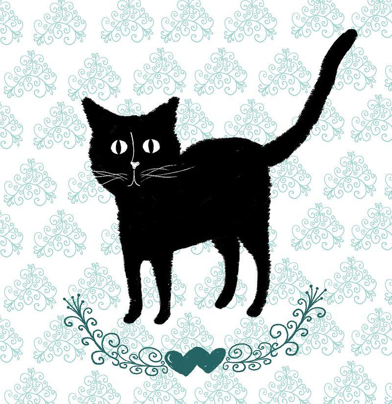 Kitty on pattern